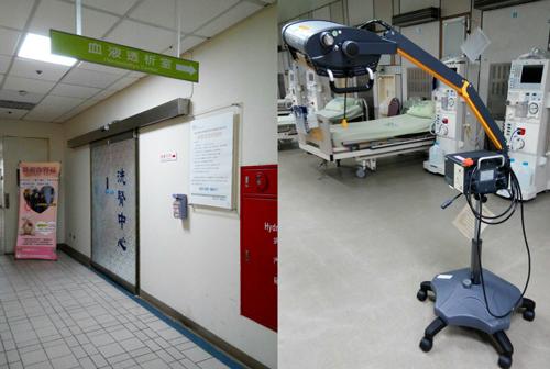 台大竹東分院洗腎室